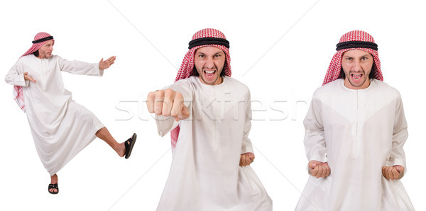 Arab man isolated on white background Stock photo © Elnur