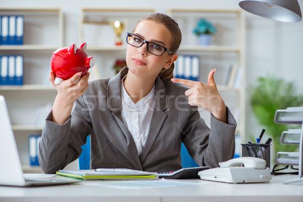 Kobiet kobieta interesu szef księgowy pracy biuro Zdjęcia stock © Elnur