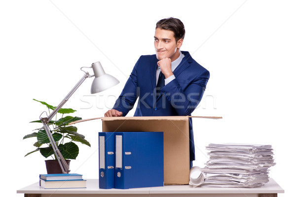 Businessman made redundant fired after dismissal Stock photo © Elnur