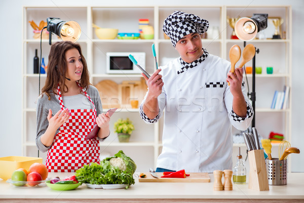 The food cooking tv show in the studio Stock photo © Elnur