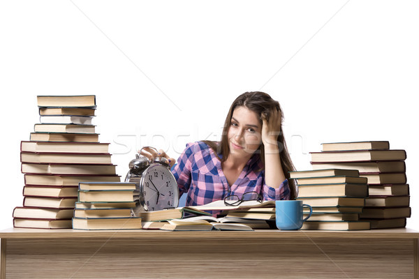 Young student preparing for school exams Stock photo © Elnur