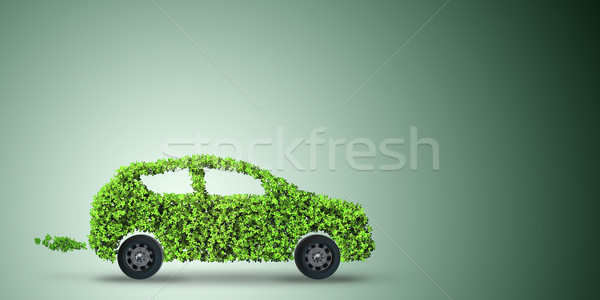 The electric car concept in green environment concept - 3d rendering Stock photo © Elnur