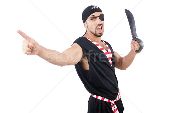 человека пиратских костюм Хэллоуин ножом молодые Сток-фото © Elnur