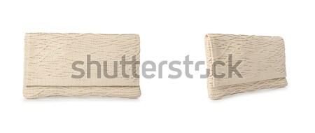 Frau Tasche isoliert weiß Hintergrund Farbe Stock foto © Elnur