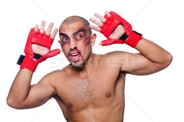 Boxeador aislado blanco deporte fondo Foto stock © Elnur