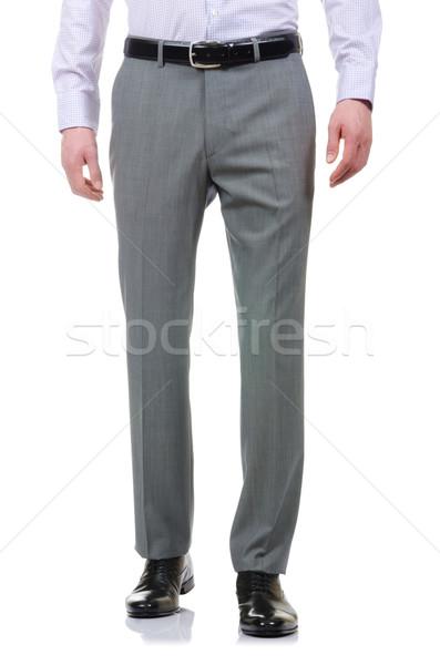 Moda calças branco modelo fundo jeans Foto stock © Elnur
