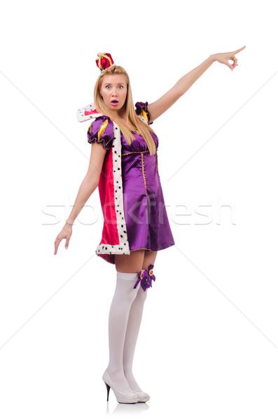 Königin funny isoliert weiß Arbeit Geschäftsmann Stock foto © Elnur