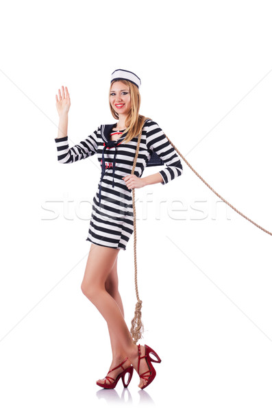 Donna marinaio guerra sorriso moda estate Foto d'archivio © Elnur