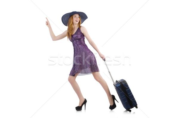 Nő kész nyári szabadság izolált fehér lány Stock fotó © Elnur