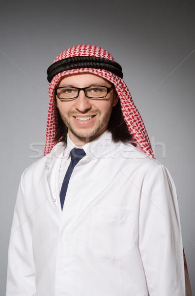 Árabe médico branco robe feliz saúde Foto stock © Elnur