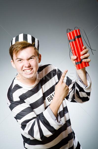Drôle prison détenu police justice rouge Photo stock © Elnur
