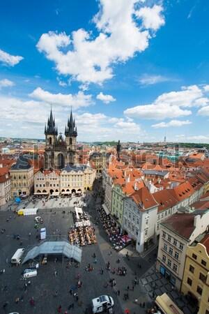 Widoku Praha jasne lata dzień niebo Zdjęcia stock © Elnur