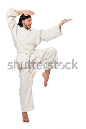 Karatê lutador isolado branco esportes menino Foto stock © Elnur