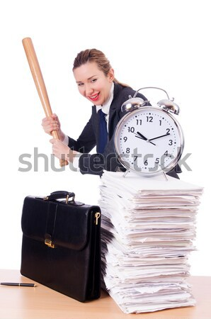 Boos vrouw honkbalknuppel stress vermist termijn Stockfoto © Elnur