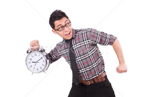 человека часы встретиться крайний срок изолированный Сток-фото © Elnur