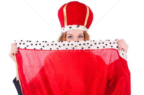 Mulher negócio posando rainha isolado branco Foto stock © Elnur