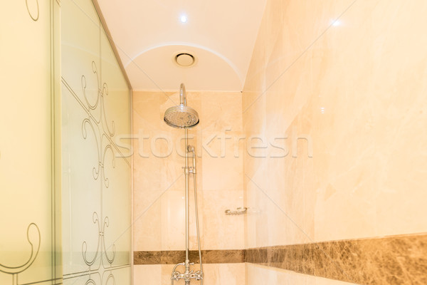 Modern bathroom interior with bathtub Stock photo © Elnur
