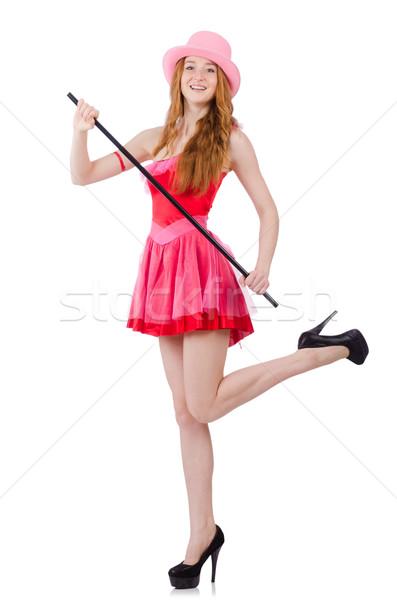Bastante jovem mini rosa vestir isolado Foto stock © Elnur