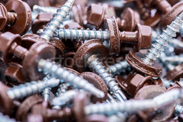 多くの 建物 背景 金属 業界 頭 ストックフォト © Elnur