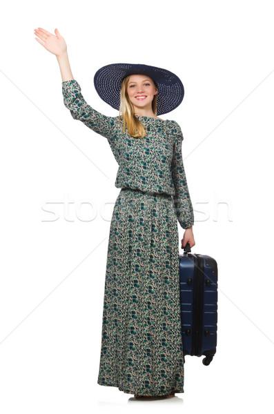 Viaje vacaciones equipaje blanco nina manos Foto stock © Elnur