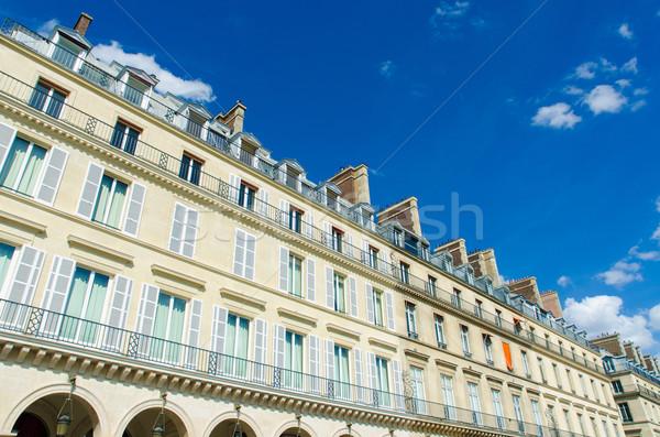 Charakteristisch Häuser Paris Frankreich Himmel Stock foto © Elnur