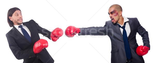 Zakenman boksen geïsoleerd witte business Stockfoto © Elnur