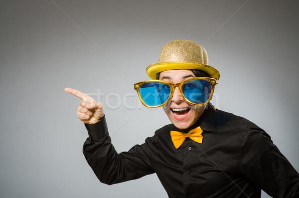 Engraçado homem vintage seis negócio empresário Foto stock © Elnur