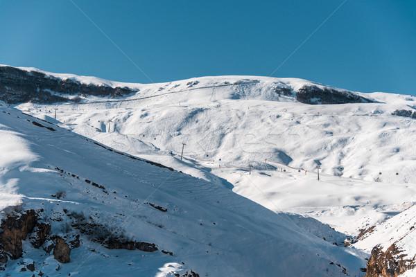 Winter mountains in Gusar region of Azerbaijan Stock photo © Elnur