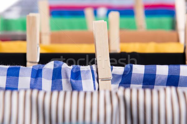 Izolált fehér szövet ruházat tiszta ruha Stock fotó © Elnur