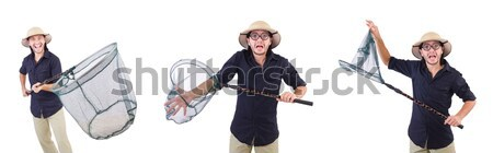 Soldado arma aislado blanco mano hombre Foto stock © Elnur