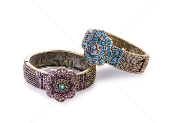 Bijoux isolé blanche chaîne diamant bijou Photo stock © Elnur