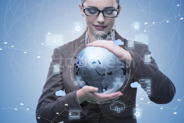 Tecnologia colagem computador globo mundo Foto stock © Elnur