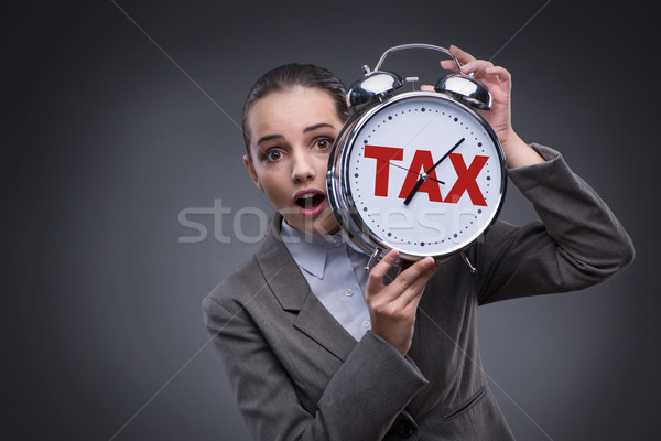 Zakenman laat betaling klok tijd Stockfoto © Elnur