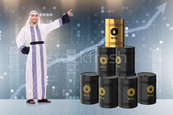 Arab businessman in oil price business concept Stock photo © Elnur
