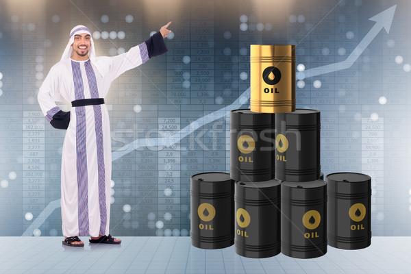 Árabe empresário Óleo preço negócio dinheiro Foto stock © Elnur