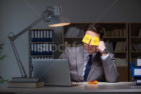 бизнесмен поздно из работу рабочих подчеркнуть Сток-фото © Elnur