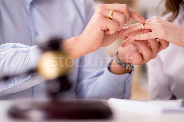 молодые семьи брак развод невеста смешные Сток-фото © Elnur