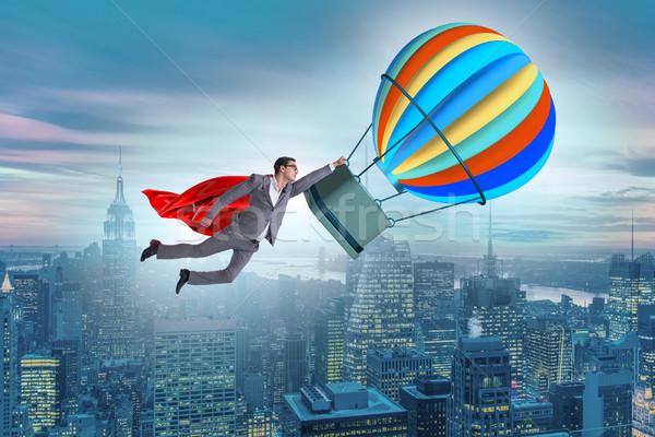 бизнесмен Flying шаре вызов бизнеса работу Сток-фото © Elnur