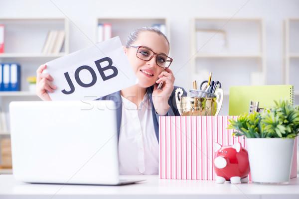 üzletasszony állás munka doboz mobil munkás Stock fotó © Elnur
