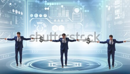 Concept of key to financial success and prosperity Stock photo © Elnur