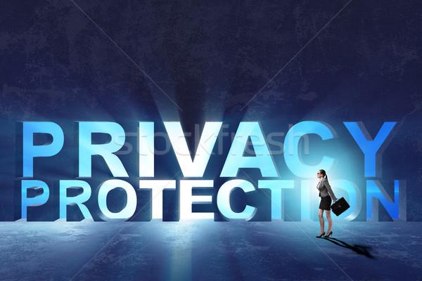 Privacy protezione moderno tecnologia business computer Foto d'archivio © Elnur