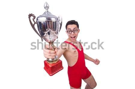 Grappig worstelaar winnaars beker groep strijd Stockfoto © Elnur