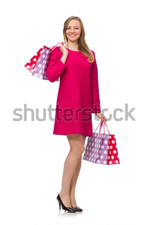 Сток-фото: красный · костюм · белый · девушки