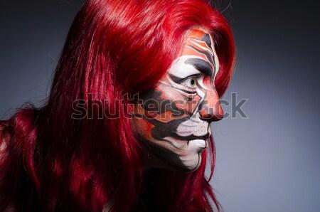 Man devil in red costume Stock photo © Elnur