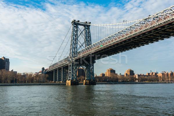 Manhattan bridge on summer day Stock photo © Elnur