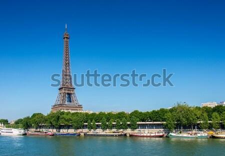 Eiffel-torony fényes nyár nap égbolt város Stock fotó © Elnur