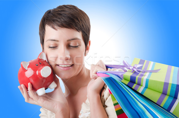 Girl after the shopping spree Stock photo © Elnur