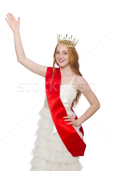красоту конкурс победителем изолированный белый девушки Сток-фото © Elnur