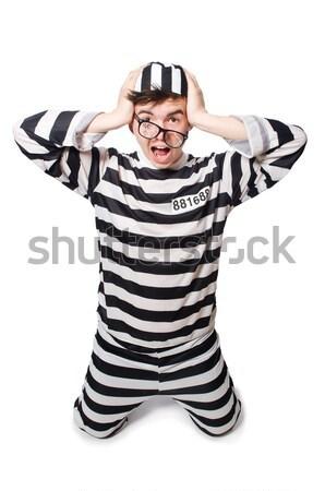 Stok fotoğraf: Mahkum · ceza · çizgili · üniforma · adam · güvenlik