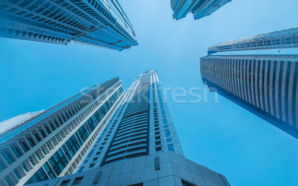 High skyscrapers of Dubai blue-toned Stock photo © Elnur